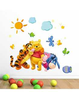 Pooh Theme Wall Sticker