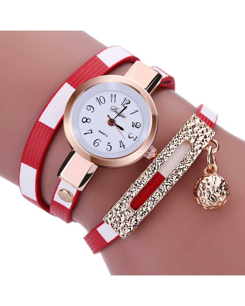 Leather Quartz Women Spunky Watch