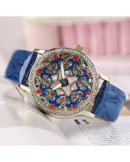 Colorful Crystal Classy Women Watch